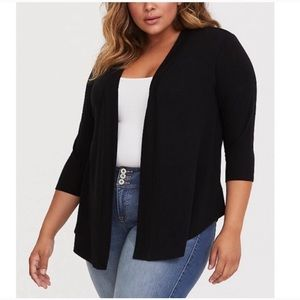 Torrid Black Open Front Cardigan, Size 0X